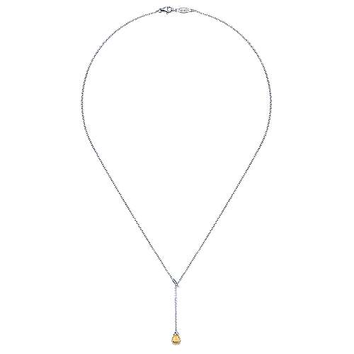 925 Silver Trends Lariat Necklace angle 2
