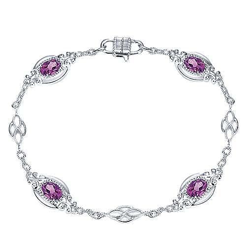 Gabriel - 925 Silver Victorian Chain Bracelet