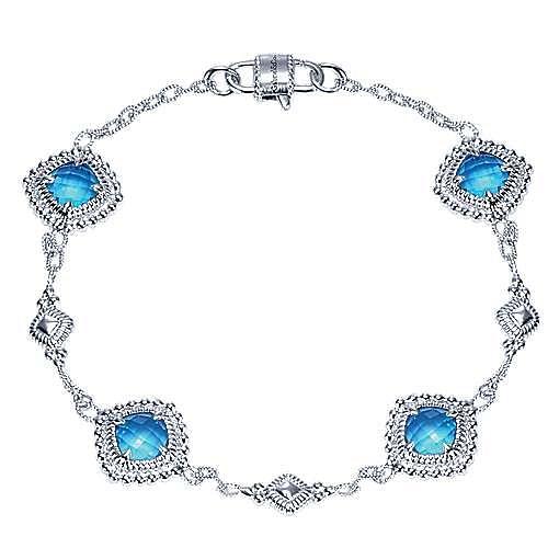 925 Silver Victorian Chain Bracelet