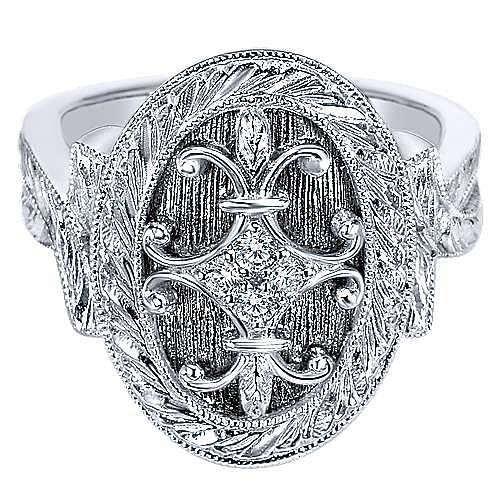 Gabriel - 925 Silver Victorian Fashion Ladies Ring