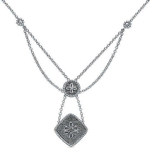 Gabriel - 925 Silver Victorian Fashion Necklace