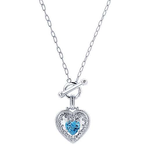 925 Silver Victorian Heart Necklace