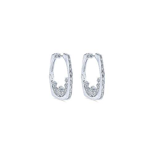 925 Silver Victorian Intricate Hoop Earrings