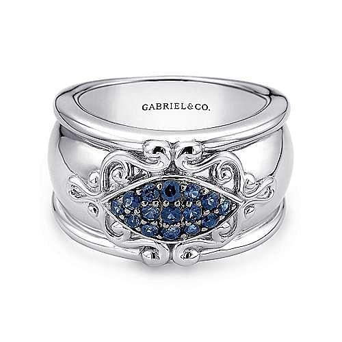 Gabriel - 925 Silver Victorian Statement Ladies Ring