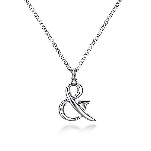 925 Sterling Silver Ampersand Necklace