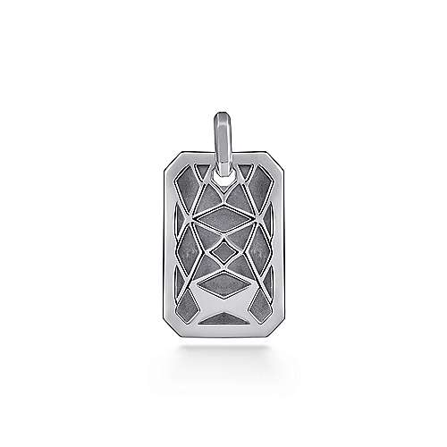925 Sterling Silver Engravable Dog Tag Pendant