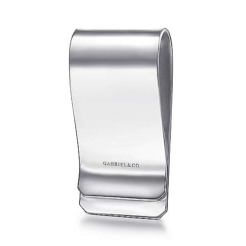 925 Sterling Silver Engravable Money Clip with Twisted Rope Trim