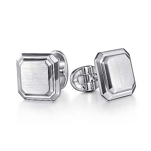 925 Sterling Silver Engravable Square Cufflinks