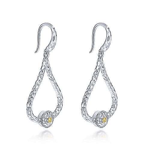 925 Sterling Silver Hammered Teardrop Earrings