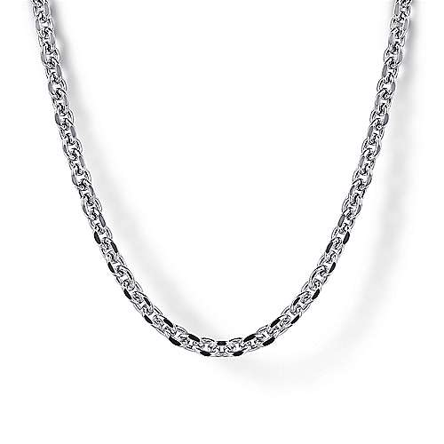 925 Sterling Silver Men's Link Chain Necklace