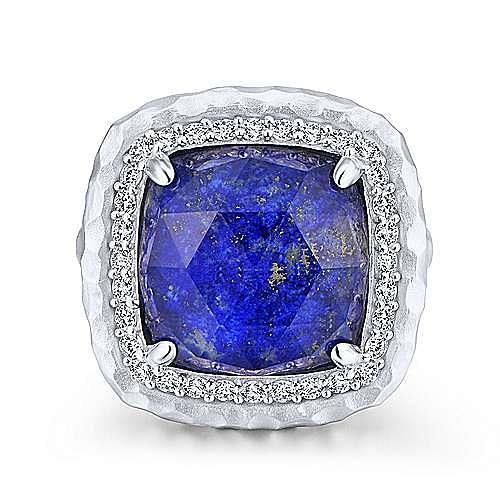 Gabriel - 925 Sterling Silver Multi Color Stones Fashion Ring