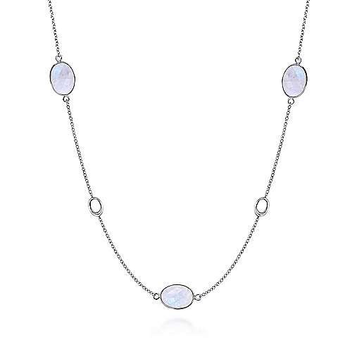 moonstone station necklace