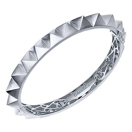 925 Sterling Silver Pyramid Bangle