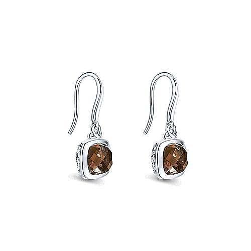 925 Sterling Silver Smoky Quartz Drop Earrings