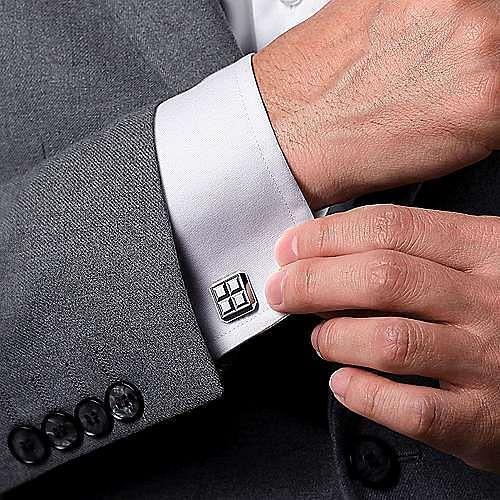 925 Sterling Silver Square Cufflinks