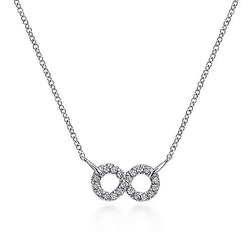 Gabriel - 925 Sterling Silver White Sapphire Infinity Symbol Fashion Necklace