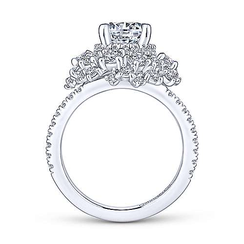 Ace 18k White Gold Round Halo Engagement Ring angle 2