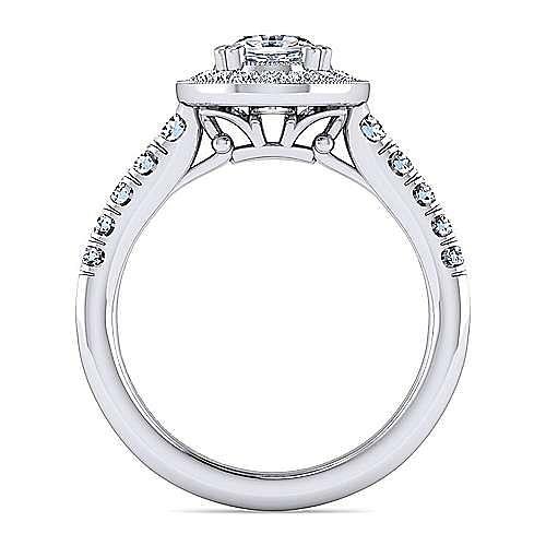 Addison Platinum Oval Halo Engagement Ring angle 2