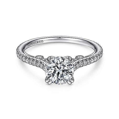 Gabriel - Alexandra Platinum Round Straight Engagement Ring