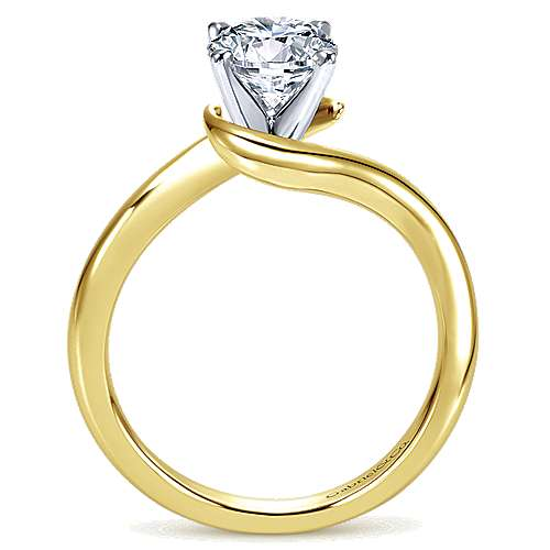Alira 14k Yellow And White Gold Round Bypass Engagement Ring angle 2
