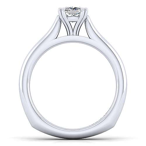 Allie 14k White Gold Cushion Cut Solitaire Engagement Ring angle 2