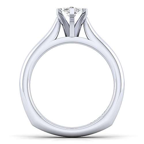 Allie 14k White Gold Marquise  Solitaire Engagement Ring angle 2