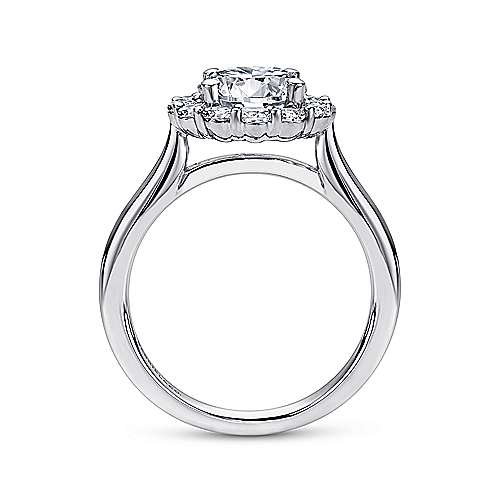 Althea 14k White Gold Round Halo Engagement Ring angle 2