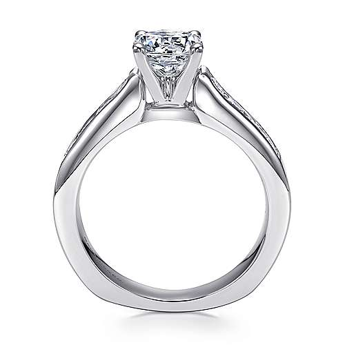 Anderson 14k White Gold Round Straight Engagement Ring angle 2