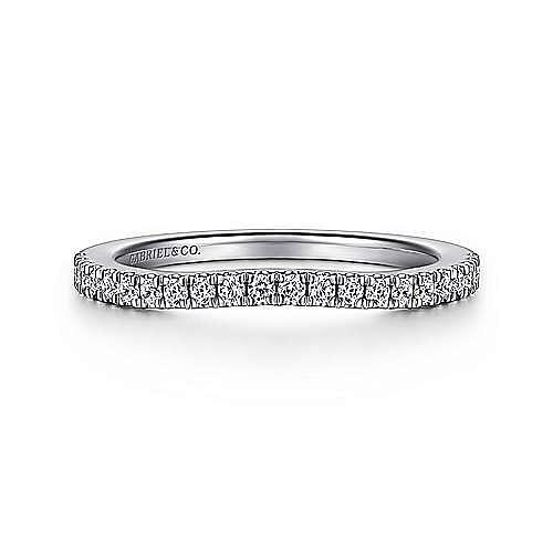 Art Deco 14K White Gold Diamond Matching Wedding Band