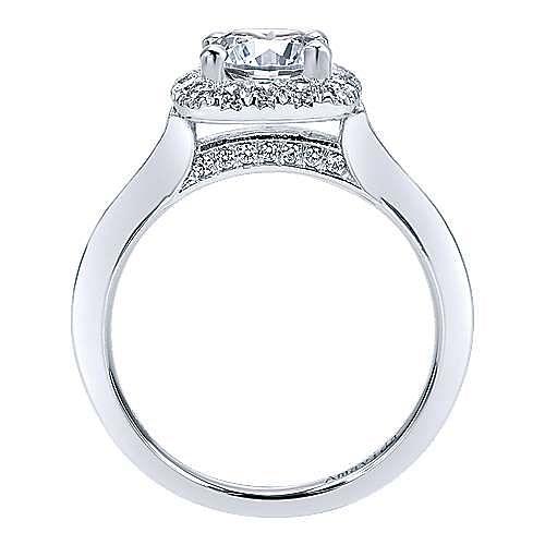 Ayla 18k White Gold Round Halo Engagement Ring angle 2