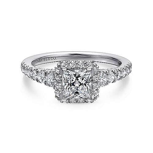 Gabriel - Balsam 14k White Gold Princess Cut Halo Engagement Ring