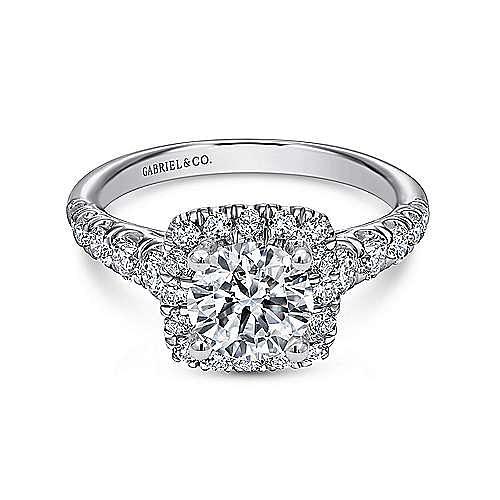 Gabriel - Beckett Platinum Round Halo Engagement Ring
