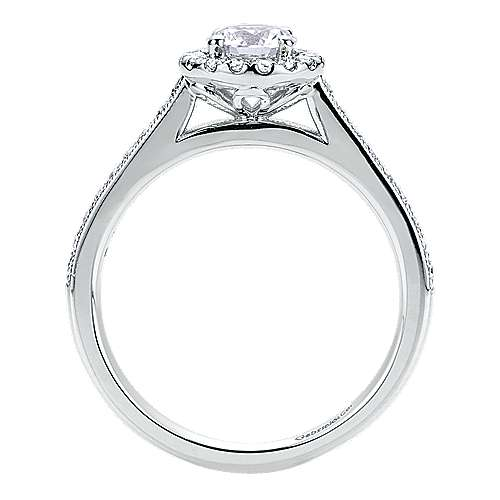 Bernadette Platinum Round Halo Engagement Ring angle 2