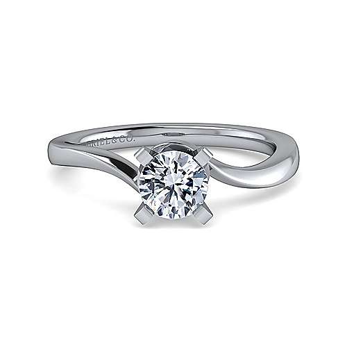 Gabriel - Blair Platinum Round Solitaire Engagement Ring