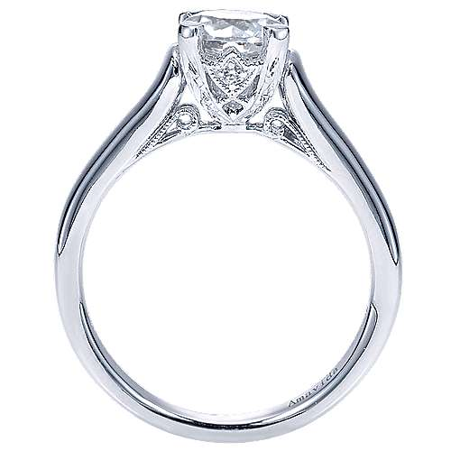 Bradshaw 18k White Gold Round Solitaire Engagement Ring angle 2