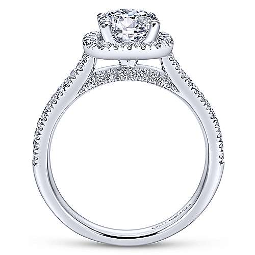 Brianna 14k White Gold Round Halo Engagement Ring angle 2