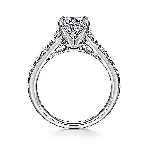 Bridget 14k White Gold Round Straight Engagement Ring angle 2