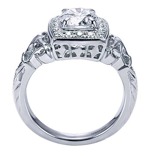 Bryant 14k White Gold Round Halo Engagement Ring angle 2