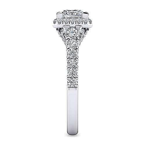 Calla 14k White Gold Princess Cut Halo Engagement Ring angle 5