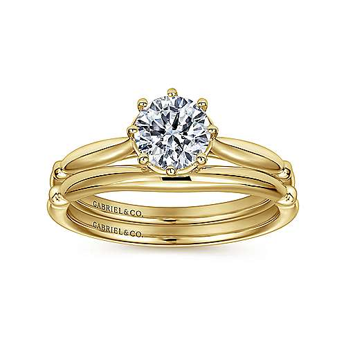 Cecily 18k White Gold Round Solitaire Engagement Ring angle 4