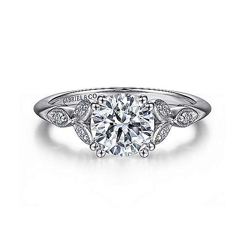 Gabriel - Celia Platinum Round Straight Engagement Ring