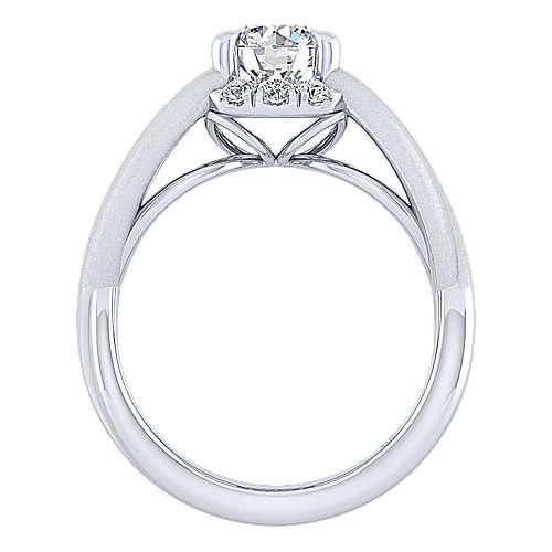 Chelly 14k White Gold Round Halo Engagement Ring angle 2