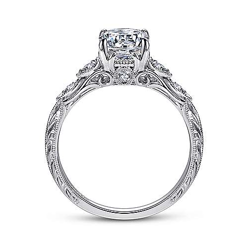 Chelsea Platinum Round Straight Engagement Ring angle 2