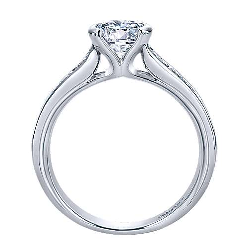 Colton 14k White Gold Round Straight Engagement Ring angle 2