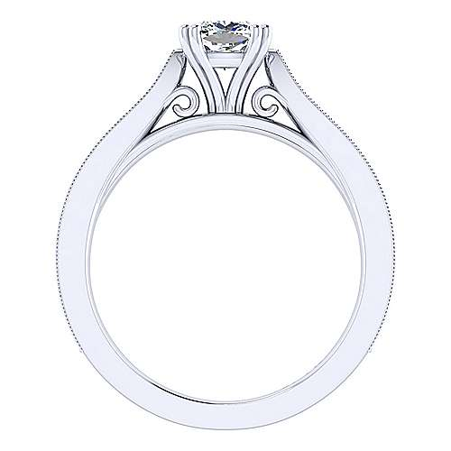 Cora 14k White Gold Cushion Cut Straight Engagement Ring angle 2