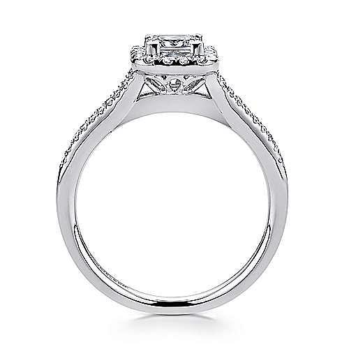 Corinna 14k White Gold Princess Cut Halo Engagement Ring angle 2