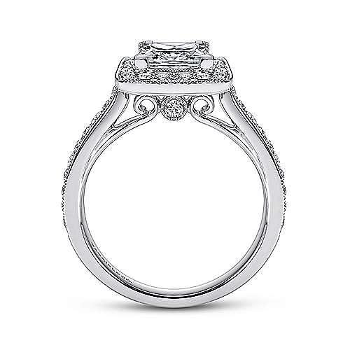 Corinne 14k White Gold Princess Cut Halo Engagement Ring angle 2