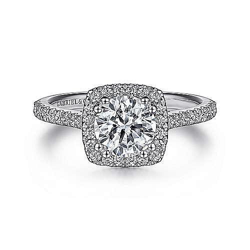 Gabriel - Courtney Platinum Round Halo Engagement Ring