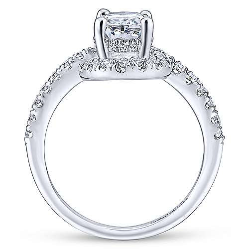 Cressida 14k White Gold Oval Halo Engagement Ring angle 2