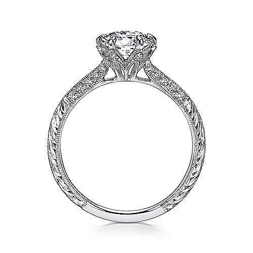 Dane Platinum Round Straight Engagement Ring angle 2